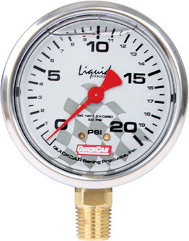 Tire Pressure Gauge Head 0-20 PSI Liquid Filled 56-0021 Quickcar Racing Products