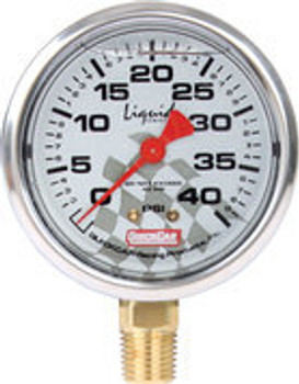 Tire Pressure Gauge Head 0-40 PSI Liquid Filled 56-0041 Quickcar Racing Products