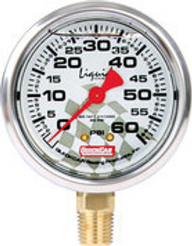 56-0061 Tire Pressure Gauge Head 0-60 PSI Liquid Filled Quickcar Racing Products
