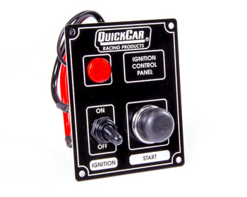 50-852 Ignition Panel Black w/ Lights Quickcar Racing Products