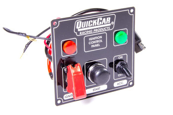 Black Plate, 2 Switches & 1 Button w/ Flip Cover & Lights 50-823 Quickcar Racing Products