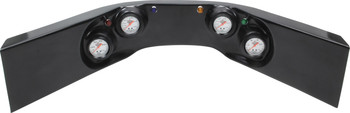 61-6724 4-Gauge Molded Dash Black Quickcar Racing Products