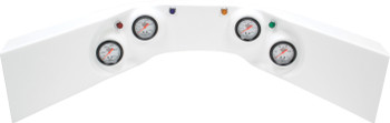 4-Gauge Molded Dash White 61-6024 Quickcar Racing Products