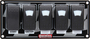 Ignition Panel w/ Rocker Switches & Lights 52-166 Quickcar Racing Products