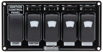 Ignition Panel w/ Rocker Switches Fuses & Lights 52-864 Quickcar Racing Products