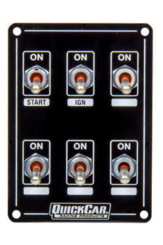 50-7614 Ignition Panel Extreme 6 Switch Dual Ignition Quickcar Racing Products