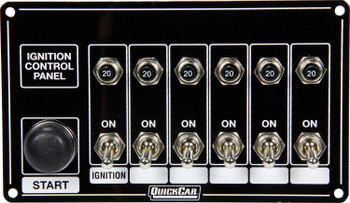 6 Switches & 1 Button w/ Breakers 50-868 Quickcar Racing Products