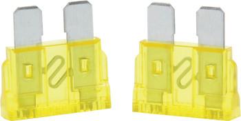 20 Amp ATC Fuse Yellow 5pk 50-920 Quickcar Racing Products