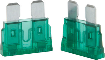 50-930 30 Amp ATC Fuse Green 5pk Quickcar Racing Products