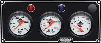 61-6717 3 Gauge Panel / Volt Black Quickcar Racing Products