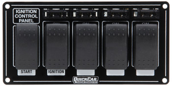 52-863 Ignition Panel w/ Rocker Switches & Fuses Quickcar Racing Products