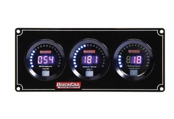 67-2031 Digital 2-1 Gauge Panel OP/WT w/ Tach Quickcar Racing Products