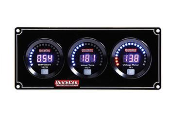67-3017 Digital 3-Gauge Panel OP/WT Volts Quickcar Racing Products