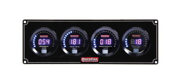 67-3046 Digital 3-1 Gauge Panel OP/WT/WP w/ Tach Quickcar Racing Products