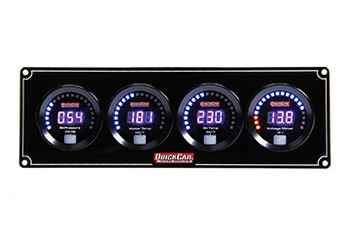 Digital 4-Gauge Panel OP/WT/OT/Volts 67-4027 Quickcar Racing Products