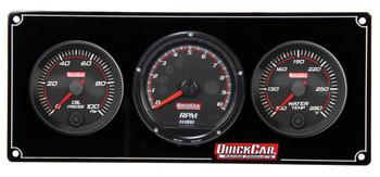 Redline 2-1 Gauge Panel OP/WT w/ Recall Tach 69-2031 Quickcar Racing Products