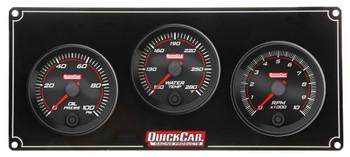 Redline 2-1 Gauge Panel OP/WT w/ Recall Tach 69-2231 Quickcar Racing Products