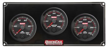 Redline 3 Gauge Panel OP/WT/OT 69-3011 Quickcar Racing Products