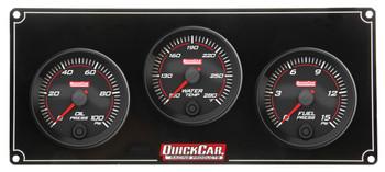 69-3012 Redline 3 Gauge Panel OP/WT/FP Quickcar Racing Products
