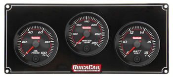 Redline 3 Gauge Panel OP/WT/VOLT 69-3017 Quickcar Racing Products