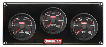 69-3017 Redline 3 Gauge Panel OP/WT/VOLT Quickcar Racing Products