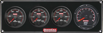 69-3041 Redline 3-1 Gauge Panel OP/WT/OT w/ Recall Tach Quickcar Racing Products
