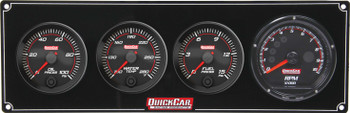 Redline 3-1 Gauge Panel OP/WT/FP w/ Recall Tach 69-3042 Quickcar Racing Products
