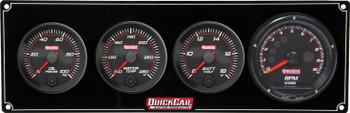 69-3047 Redline 3-1 Gauge Panel OP/WT/Volt w/ Recall Tach Quickcar Racing Products