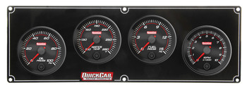 69-3242 Redline 3-1 Gauge Panel OP/WT/FP w/ 2-5/8in Tach Quickcar Racing Products