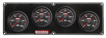 69-4027 Redline 4 Gauge Panel OP/WT/OT/Volt Quickcar Racing Products