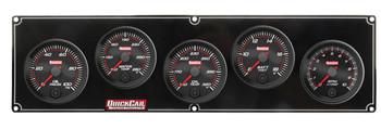 Redline 4-1 Gauge Panel OP/WT/OT/Volt w/ 2-5/8 Ta 69-4257 Quickcar Racing Products