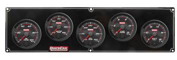 Redline 5 Gauge Panel OP/WT/OT/FP/VOLT 69-5037 Quickcar Racing Products