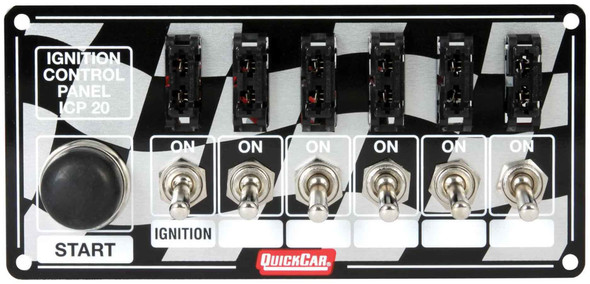 50-163 Ignition Panel Fused w/ Start Button Quickcar Racing Products