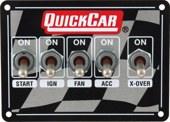 50-1713 Ignition Panel Dirt Dual with 3 Wheel Brake Quickcar Racing Products