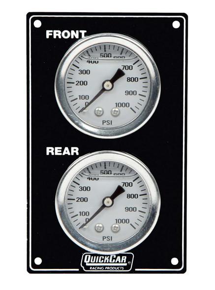 61-105 Mini Brake Bias Gauge Panel Vertical Black Quickcar Racing Products