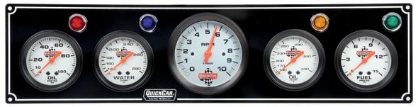 61-67513 3-1 Gauge Panel w/ Tach Black Quickcar Racing Products