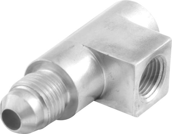 61-722 Aluminum Tee 1/8 NPT x 1/8 NPT x 4AN Quickcar Racing Products