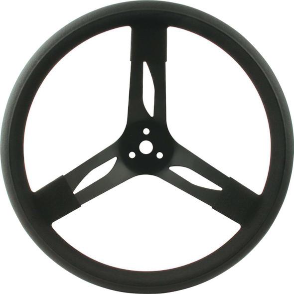 68-003 15in Steering Wheel Steel Black Quickcar Racing Products