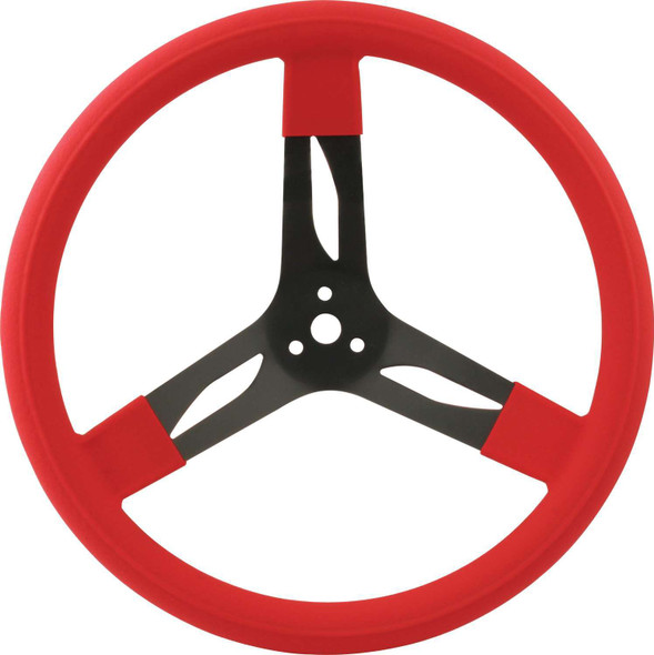 68-0031 15in Steering Wheel Steel Red Quickcar Racing Products