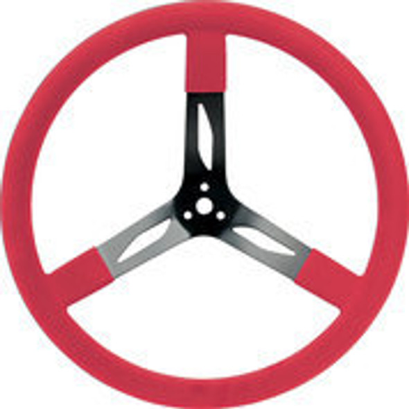 """68-0041 Steel Steering Wheel 17"""" Red Quickcar Racing Products"""