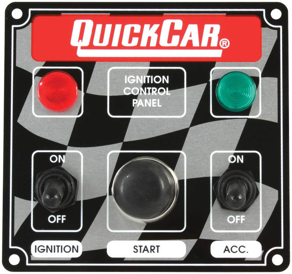 50-022 Ignition Panel 2 Switch w/ Lights Quickcar Racing Products