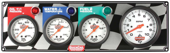 61-60423 Gauge Panel w/ Tach Quickcar Racing Products