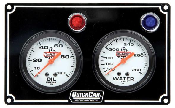 61-6701 2 Gauge Panel Black Quickcar Racing Products