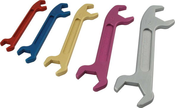 64-709 5 Piece Angle AN Wrench Set 6-16 Quickcar Racing Products
