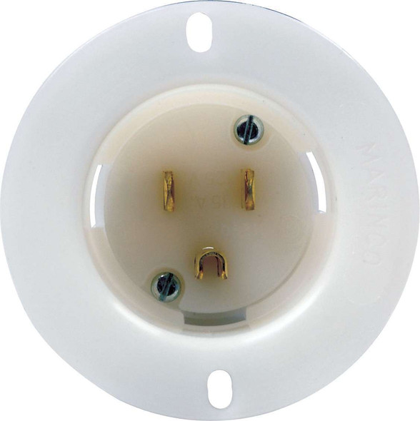 57-710 Male Recessed Outlet 110 Volt Quickcar Racing Products