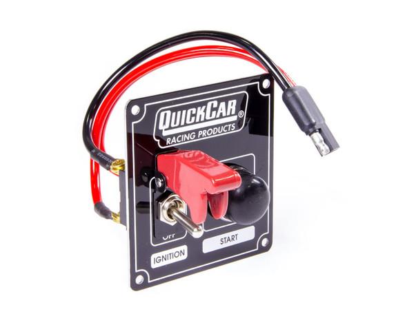 QuickCar Ignition Control Panel Starter Black 1 Toggle// 1 Push Button Start USRA