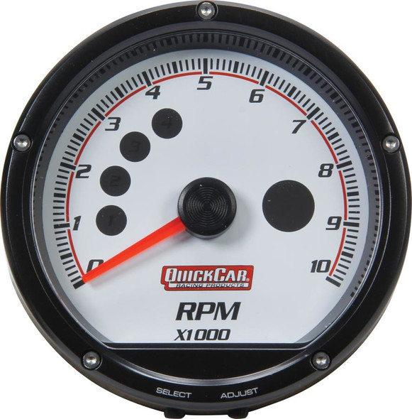 63-001 Redline Multi-Recall Tachometer White Quickcar Racing Products