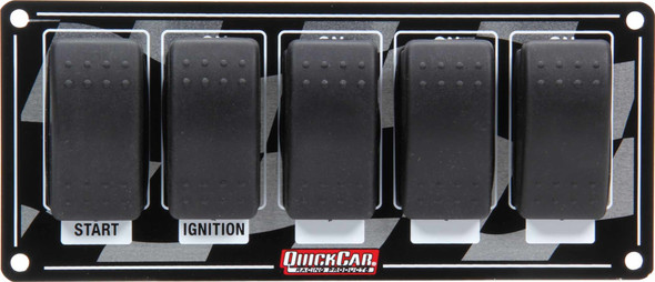 52-165 Ignition Panel w/ Rocker Switches Quickcar Racing Products