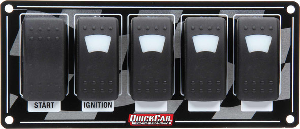 52-166 Ignition Panel w/ Rocker Switches & Lights Quickcar Racing Products