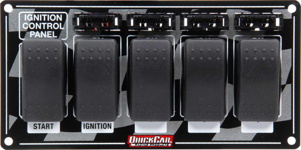 52-163 Ignition Panel w/ Rocker Switches & Fuses Quickcar Racing Products